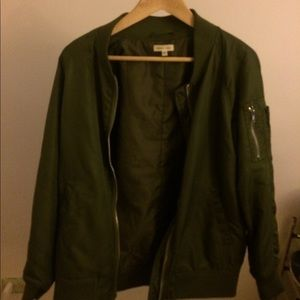 Silence + Noise vintage army green bomber coat